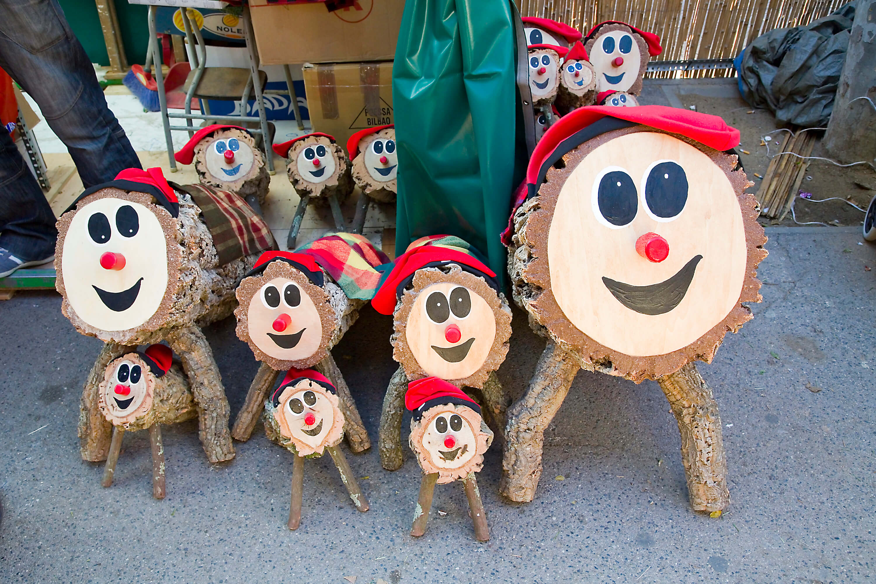 Christmas Traditions in Barcelona - Tio Caga or Tio de Nadal at the market