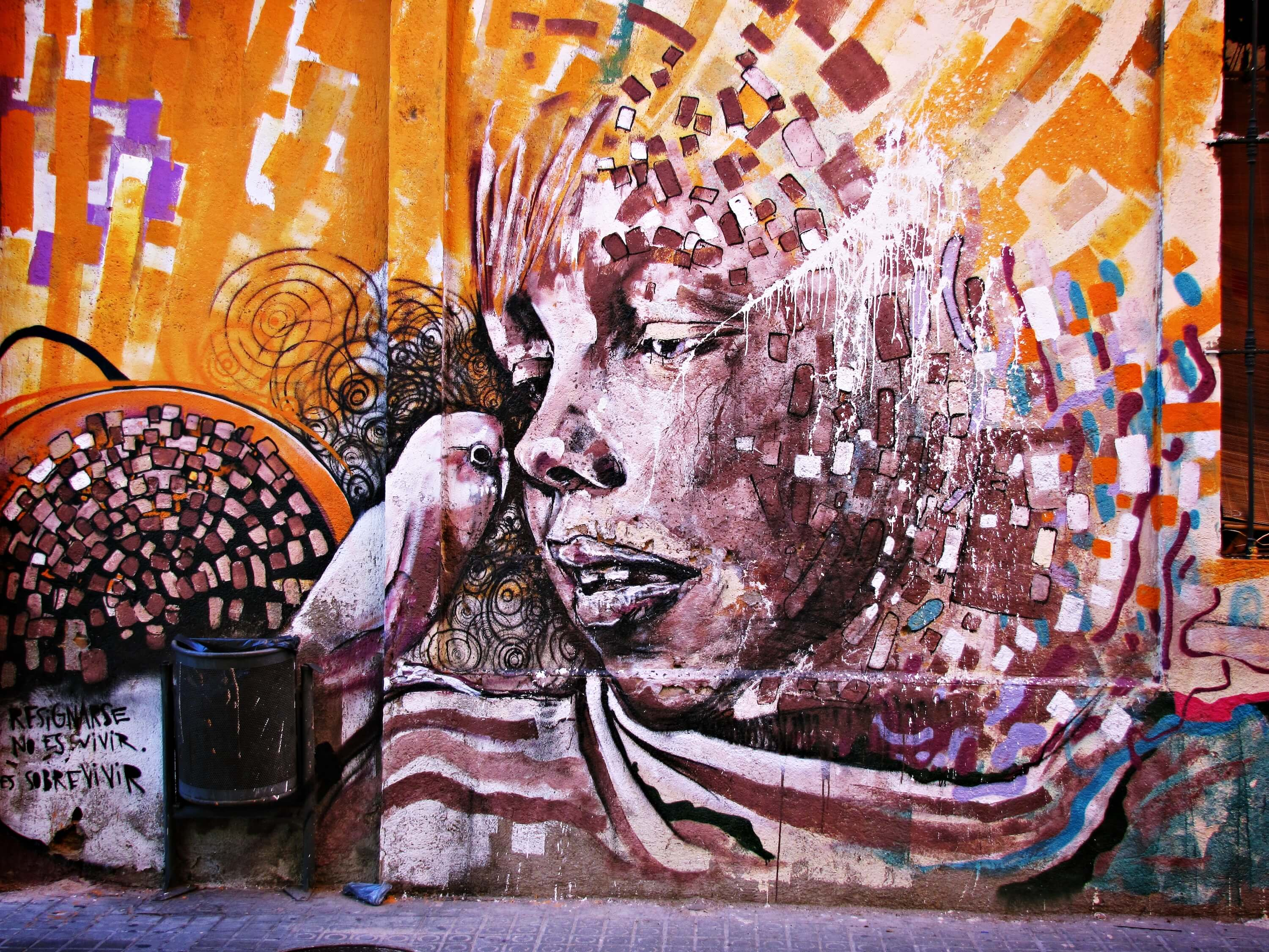 Free things to do in Barcelona - Poblenou District street art