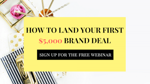 How to land your first 5k brand deal webinar
