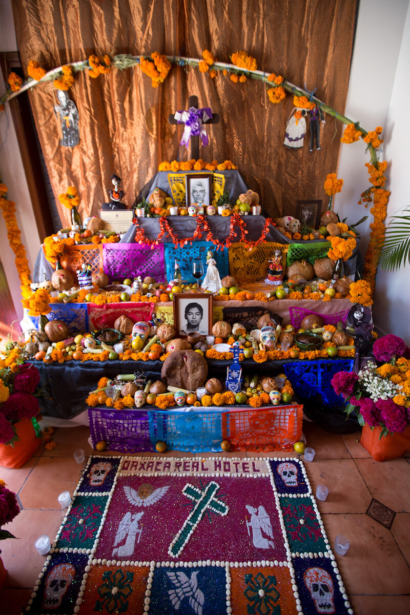 Day of the dead Oaxaca - ofrendas or altars for the dead