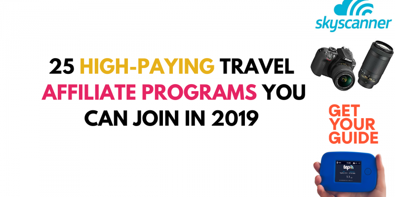 25 travel affiliate programs for travel bloggers - main image