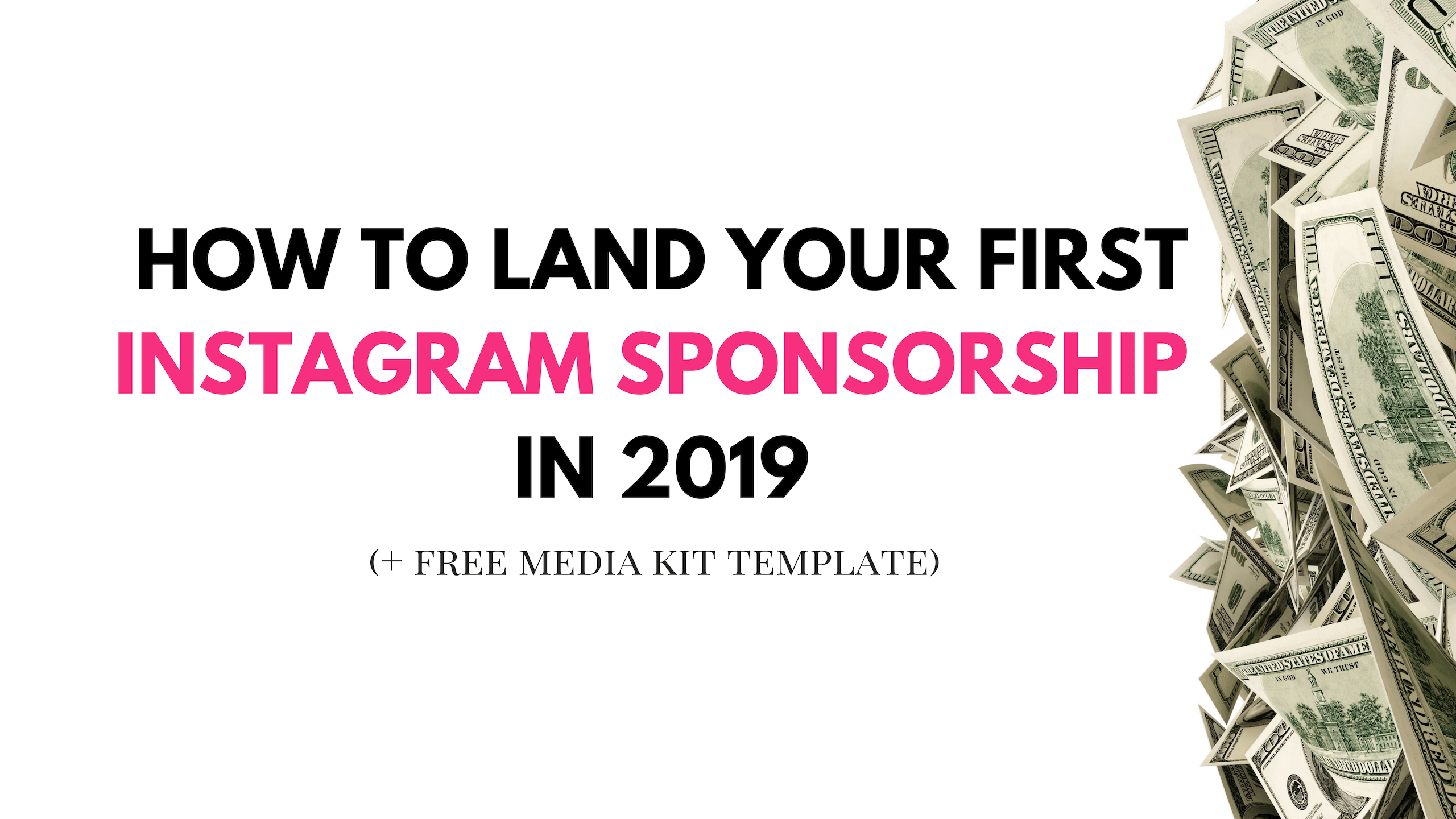 How To Land Your First Instagram Sponsorship (+ Media Kit