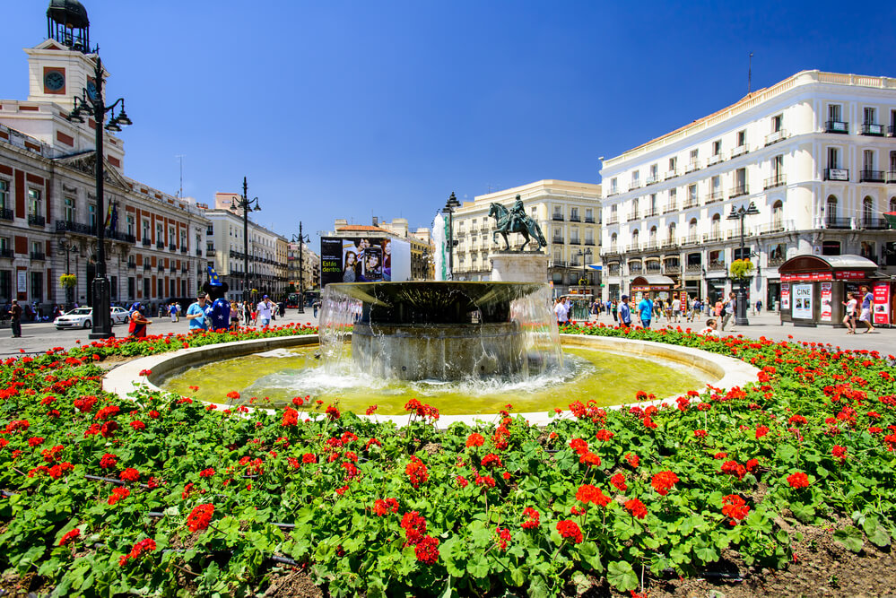 Puerta del Sol walking tour of Madrid with map