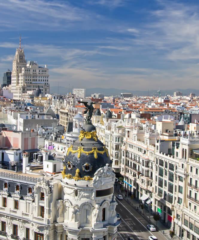 View from Circulo de Bellas Artes walking tour of Madrid