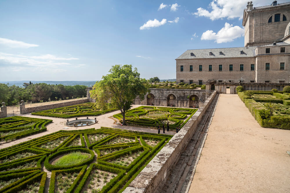 Day trips from Madrid - El Escorial Monastery gardens