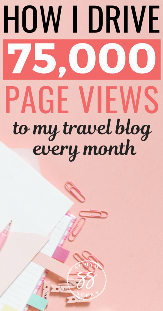 Increase your travel blog traffic - Pinterest image