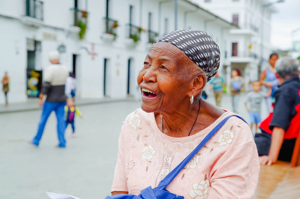Traveling to normalize blackness - elderly black woman