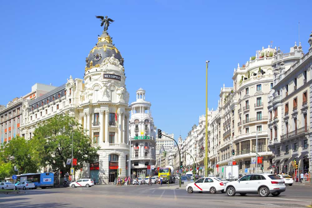 3 day Madrid itinerary - La Gran Via