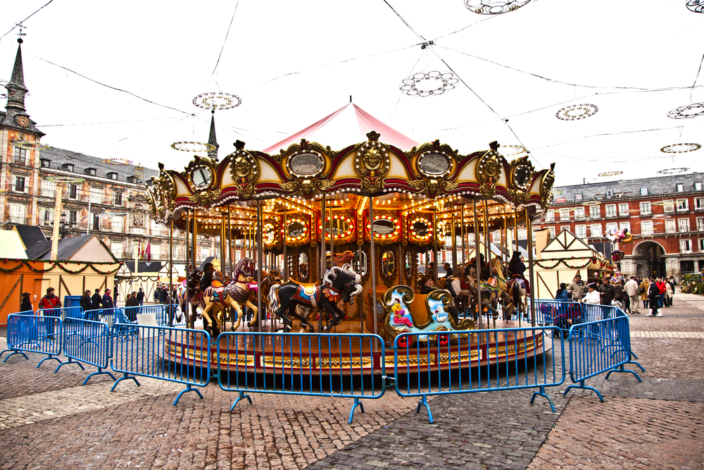 Things to do in Madrid in winter - Christmas market carousel