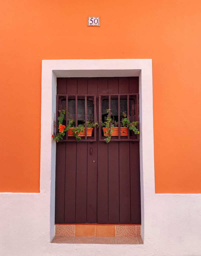 Colorful door in Old San Juan