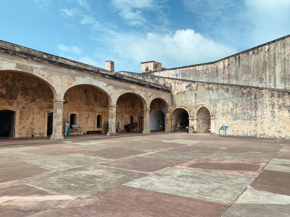 Inside Castillo San Cristobal