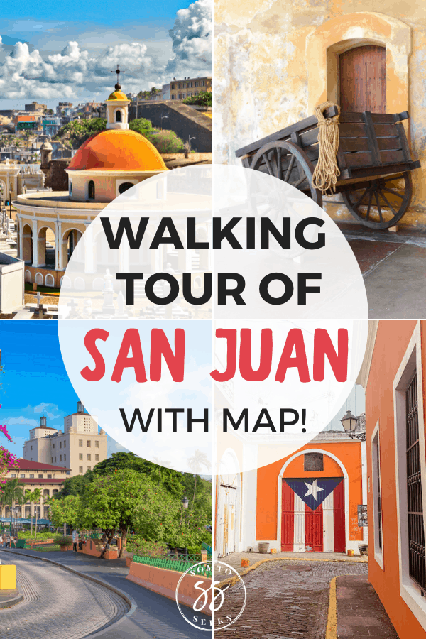 Walking tour of San Juan with map