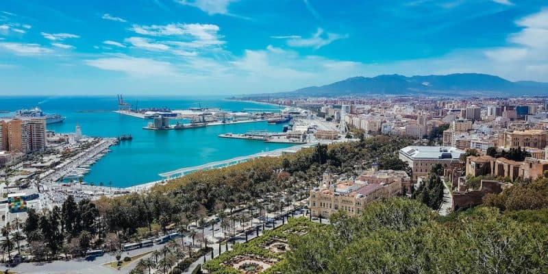 Malaga view from lookout point_